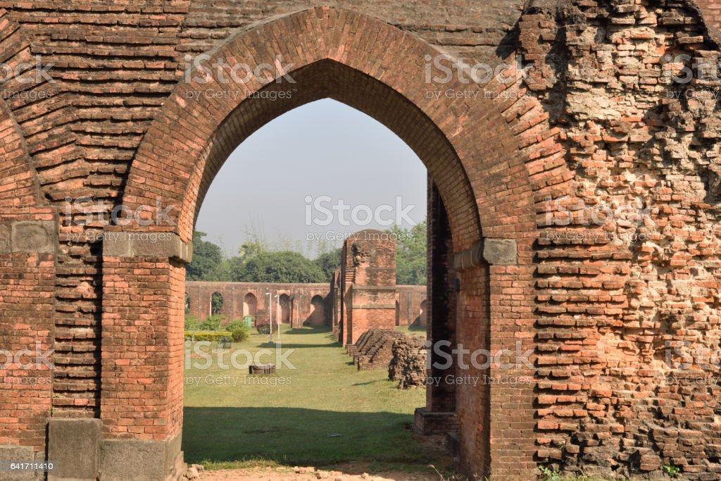 Bricks made arches stock photo