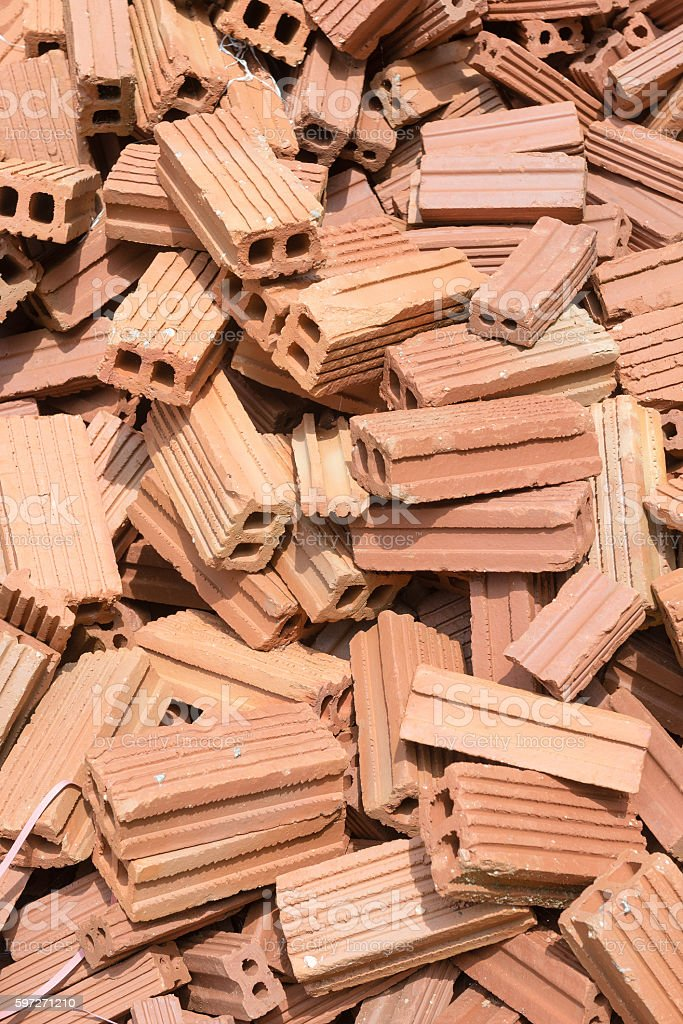 Bricks mound stock photo