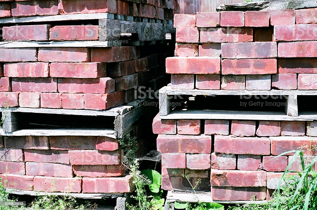 Bricks bottier en plein air photo libre de droits
