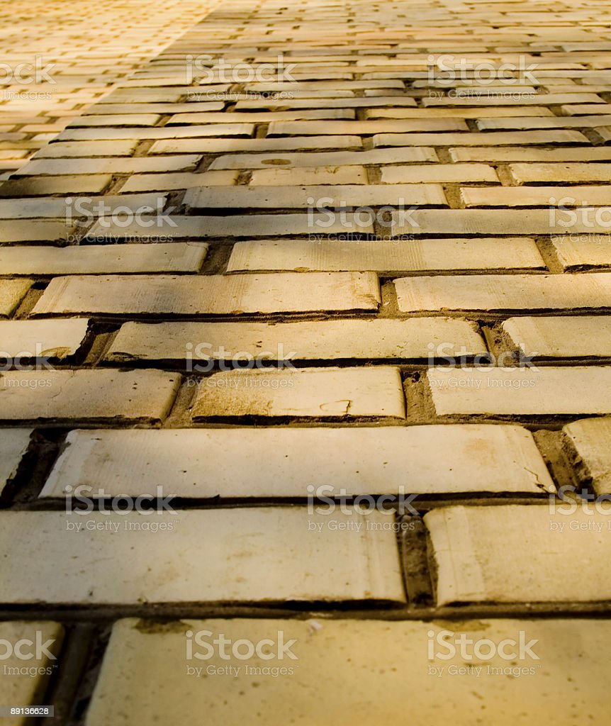 Bricks with perspective royalty-free stock photo
