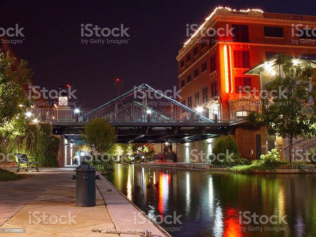 Bricktown Canal stock photo