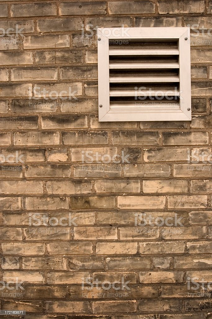 Brickwall With Air Vent royalty-free stock photo