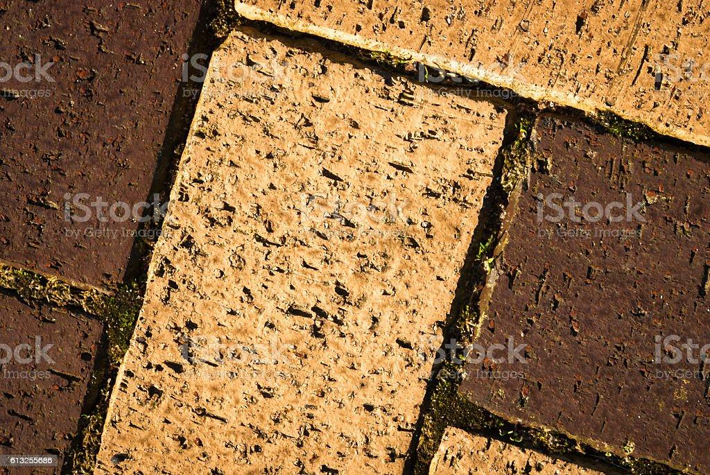 Brickwork flooring stock photo