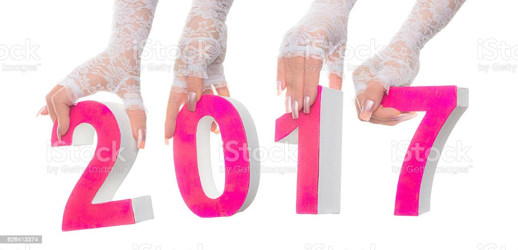 Bridal 2017 marriage date stock photo