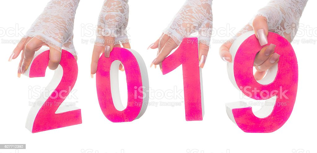 Bridal 2019 marriage date stock photo