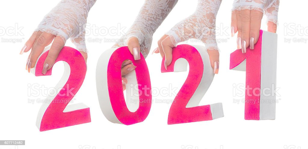 Bridal 2021 marriage date stock photo