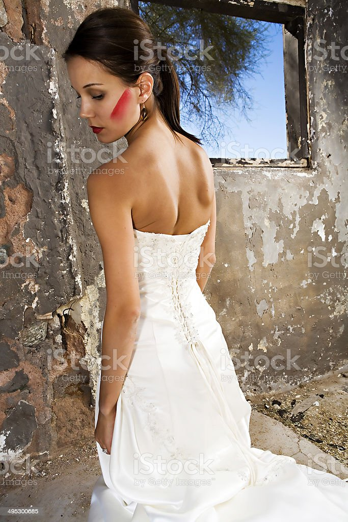 Bridal beauty stock photo
