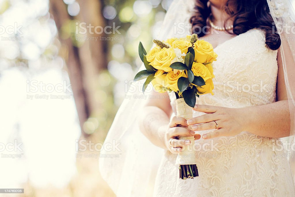 Bridal Bouquet of Flowers royalty-free stock photo