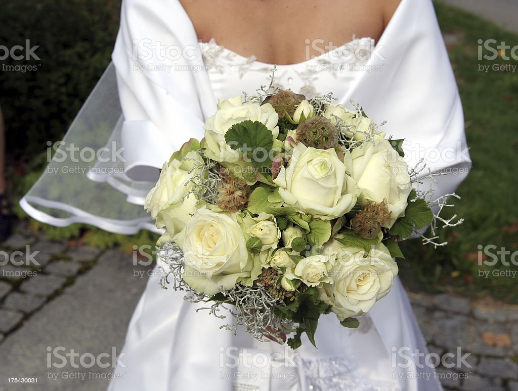 Bridal bouquet rose royalty-free stock photo