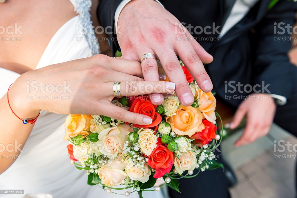 bridal bouquets wedding stock photo