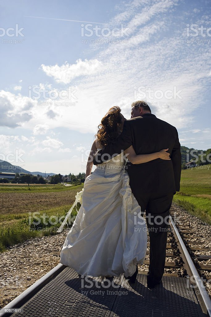 Bridal Couple in love stock photo