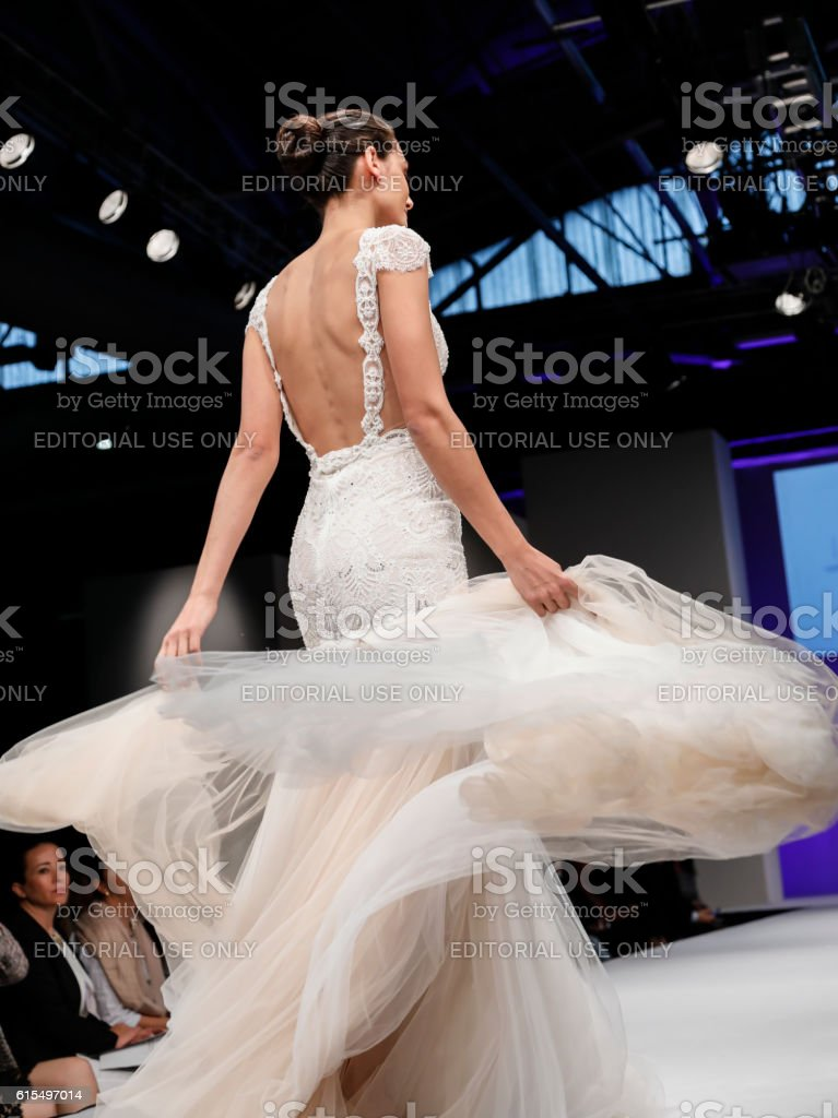 Bridal Couture from Israel Spring 2017 stock photo