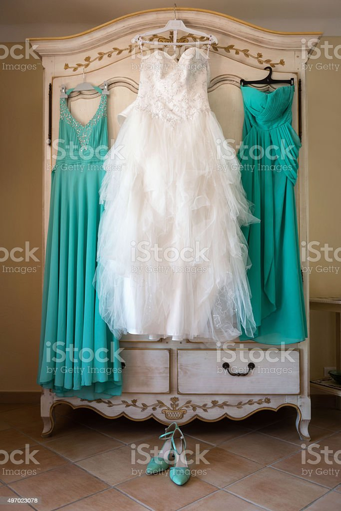 Bridal dresses stock photo