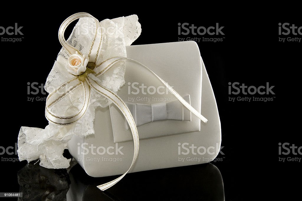 bridal garter and a purse royalty-free stock photo