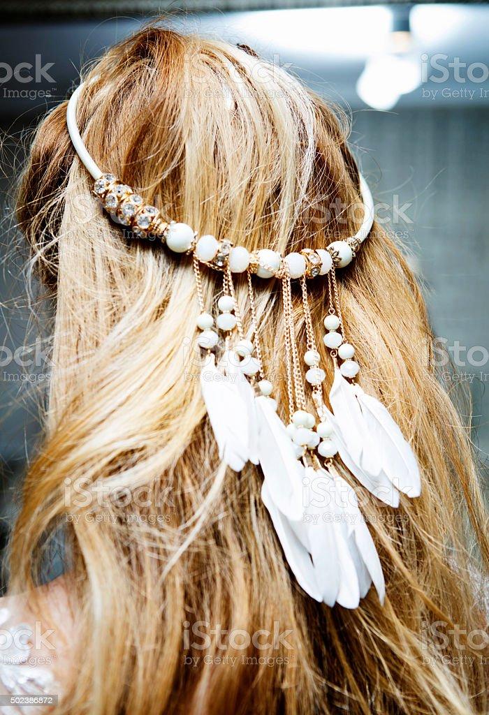 Bridal Hair Accessory stock photo