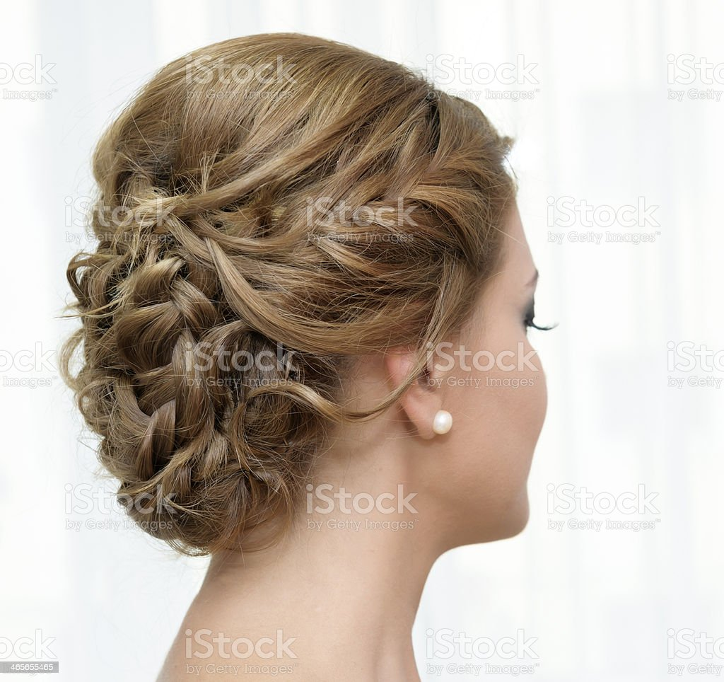 bridal hairstyle royalty-free stock photo