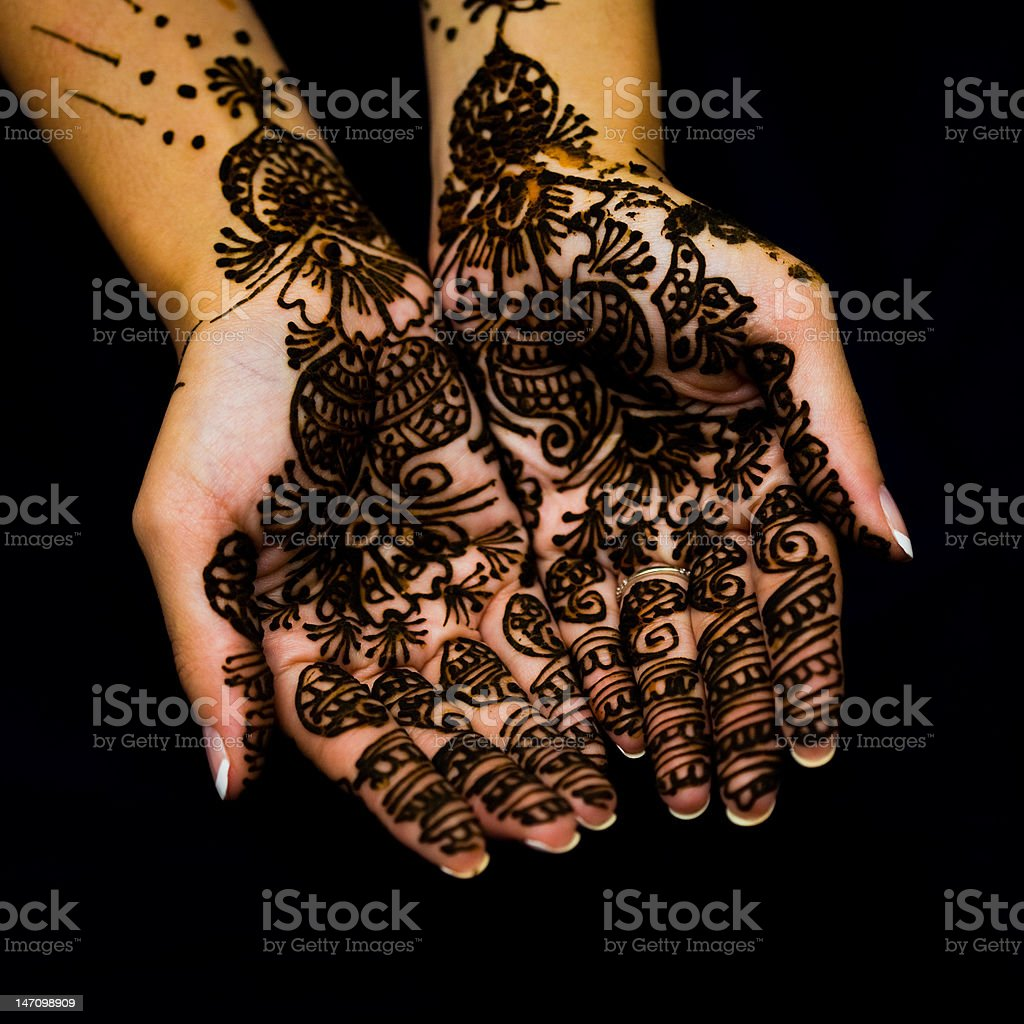 Bridal henna design royalty-free stock photo
