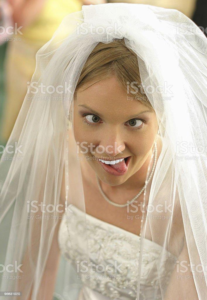 Bridal insanity royalty-free stock photo