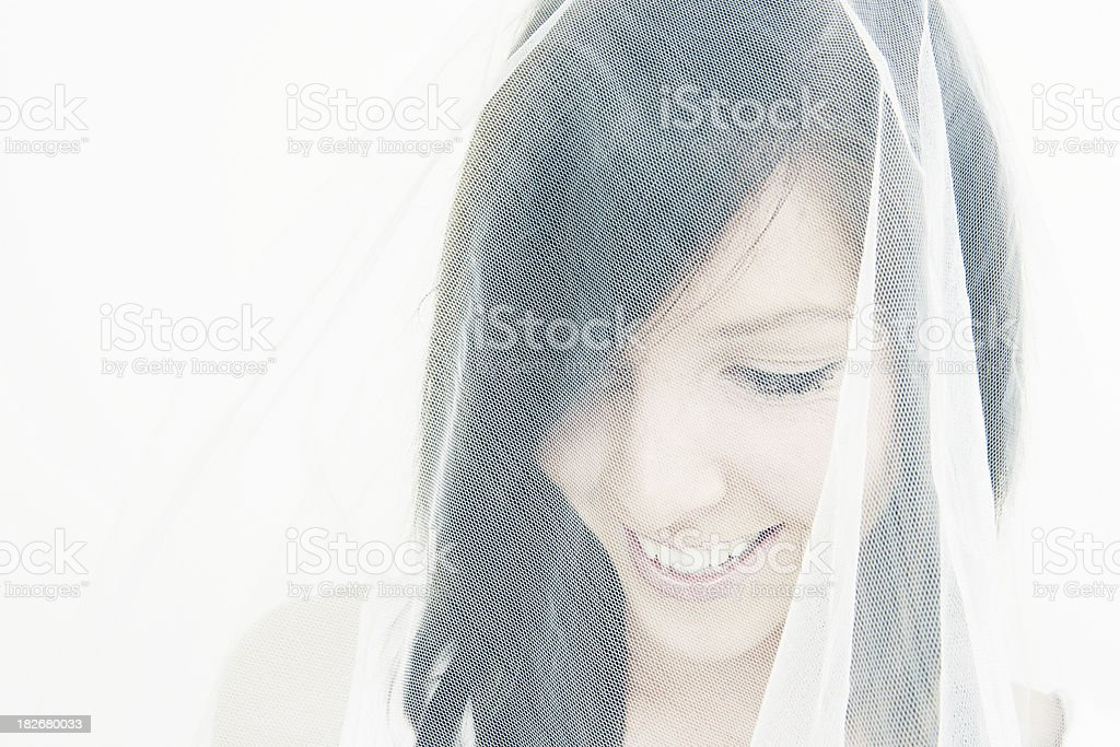 Bridal Laughter royalty-free stock photo