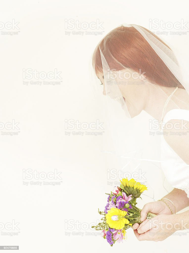 Bridal Laughter stock photo