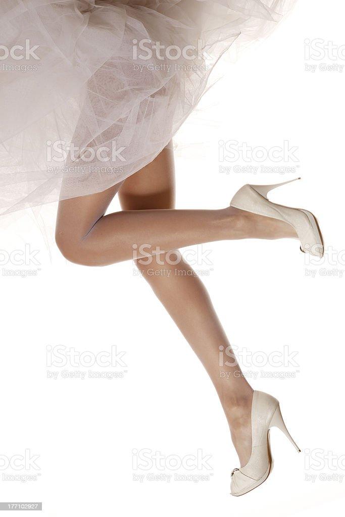 Bridal legs royalty-free stock photo