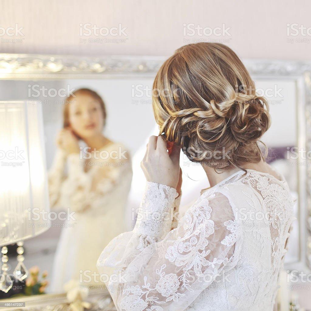 Bridal morning. stock photo