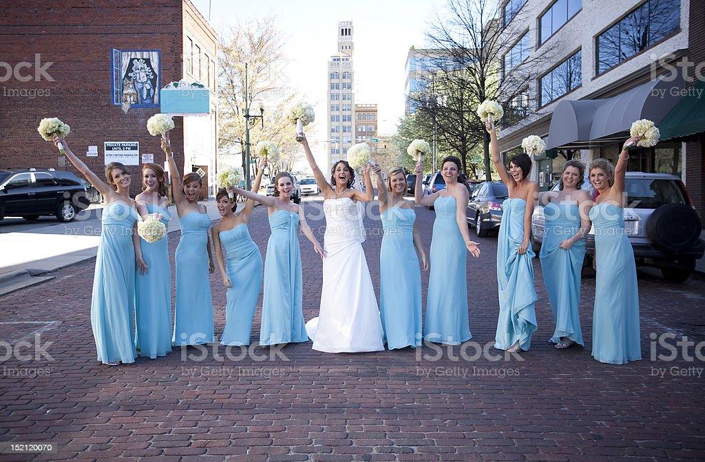 Bridal Party stock photo
