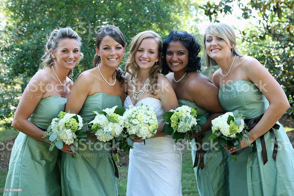 Bridal party. stock photo