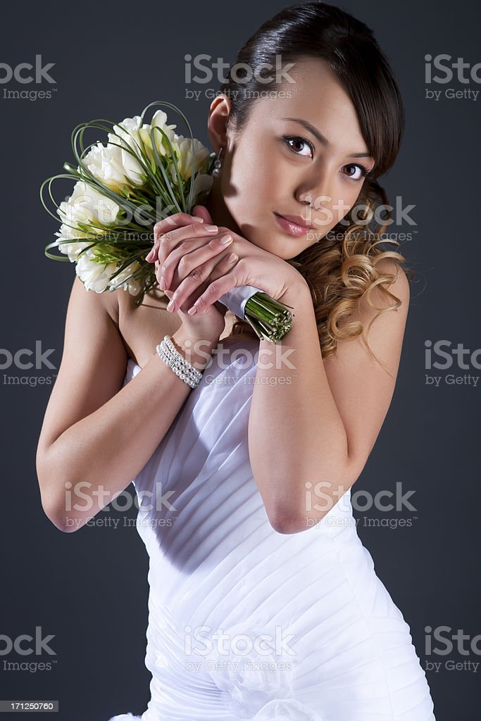 Bridal portrait royalty-free stock photo