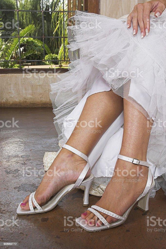 Bridal sandals royalty-free stock photo