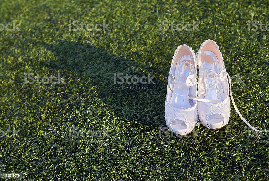 Bridal shoes royalty-free stock photo