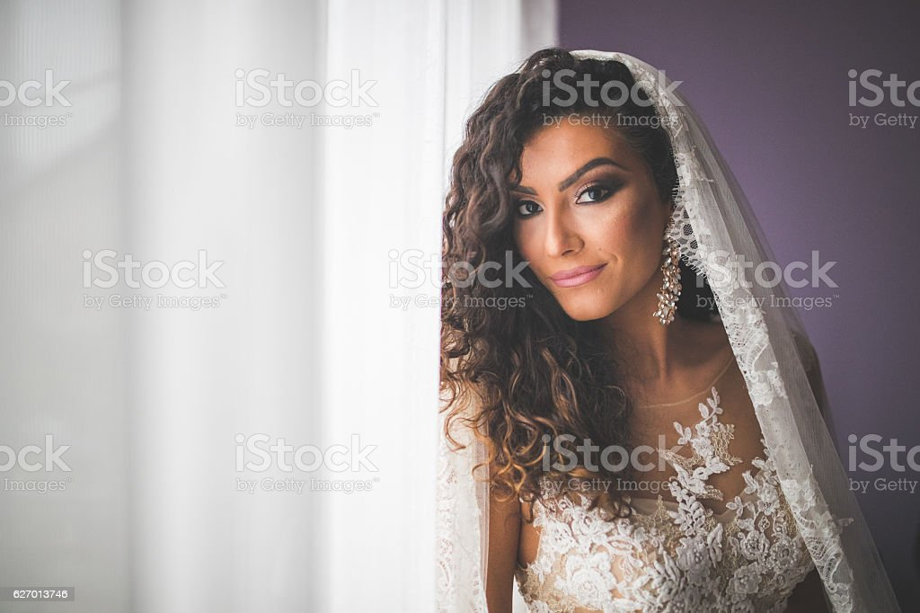 Bridal shooting stock photo