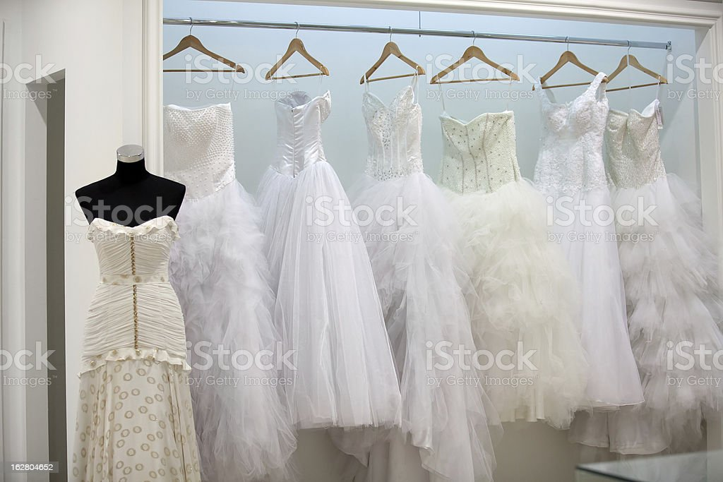 Bridal shop royalty-free stock photo