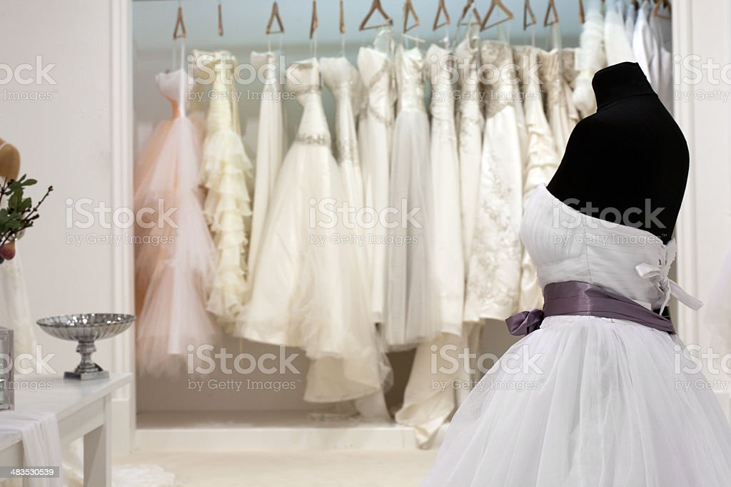 Bridal shop stock photo
