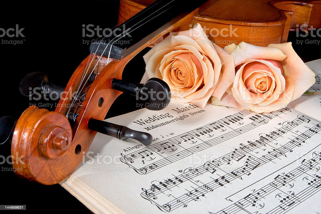 Bridal strings stock photo