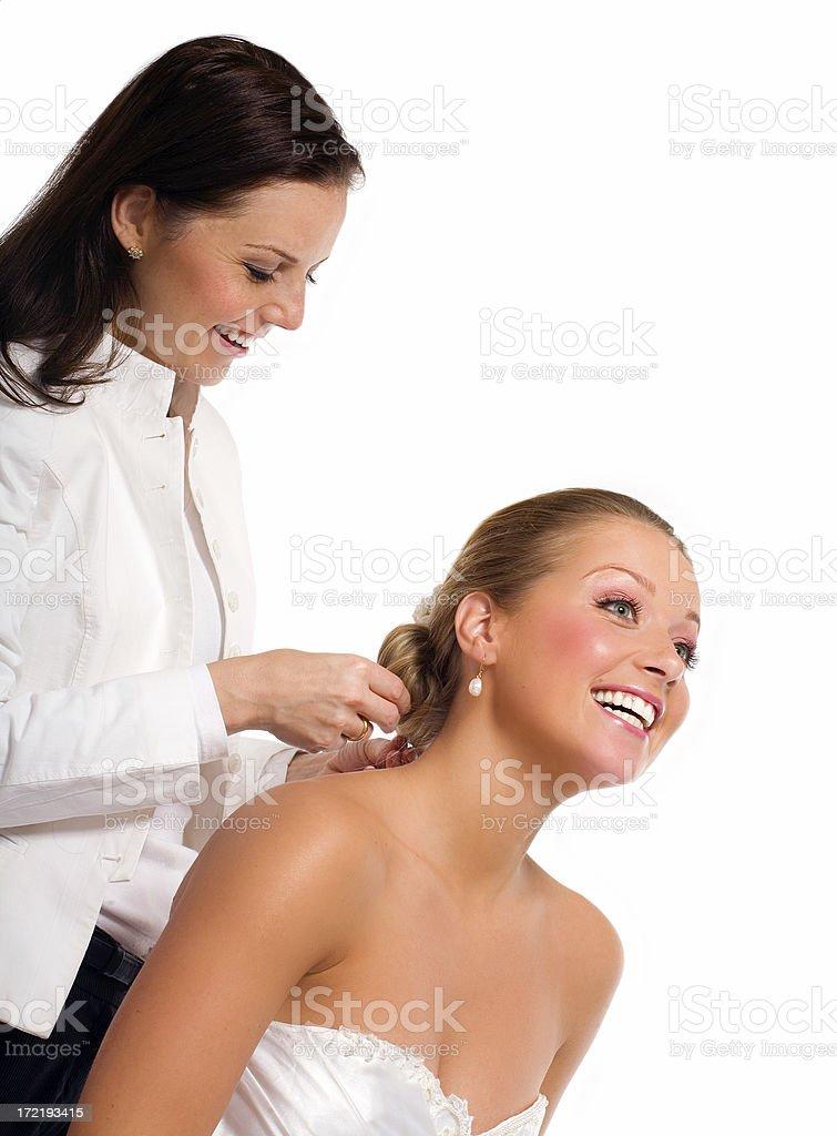 Bridal Stylist royalty-free stock photo