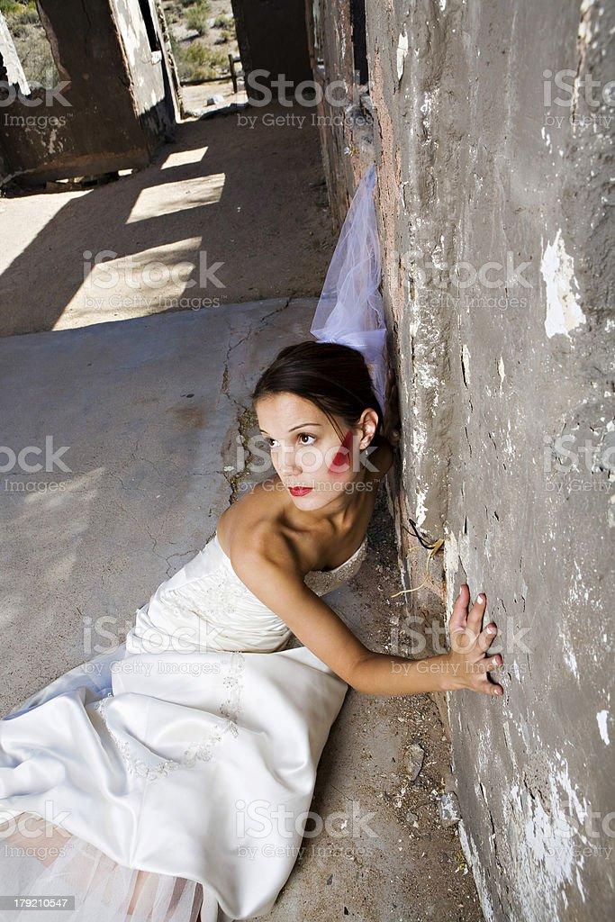 Bridal Trash The Dress royalty-free stock photo