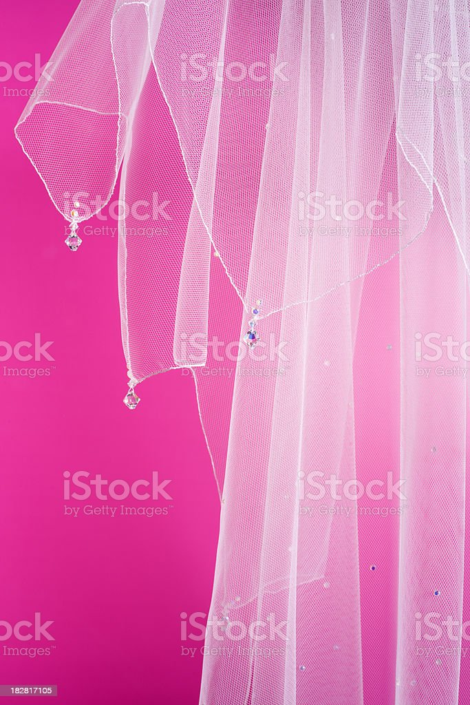 bridal veil detail royalty-free stock photo