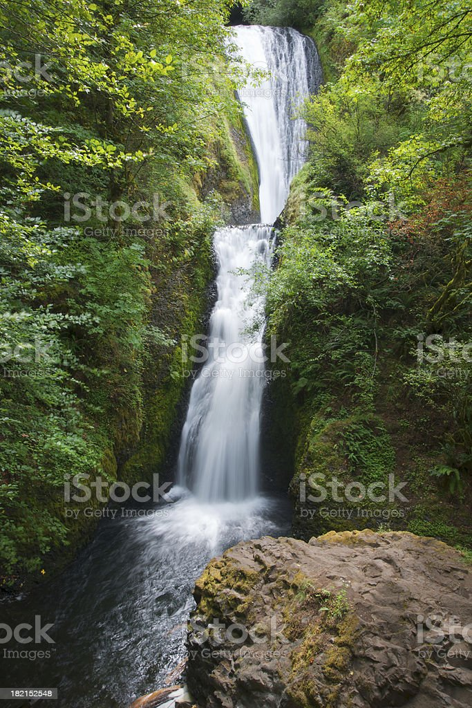 Bridal Veil Falls, Rock in Foreground royalty-free stock photo