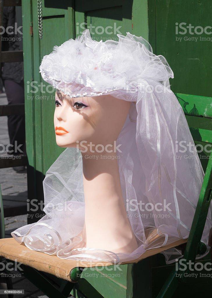 bridal veil stock photo