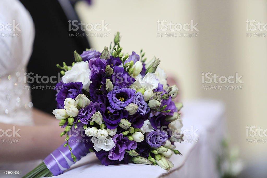Bridal wedding bouquet stock photo