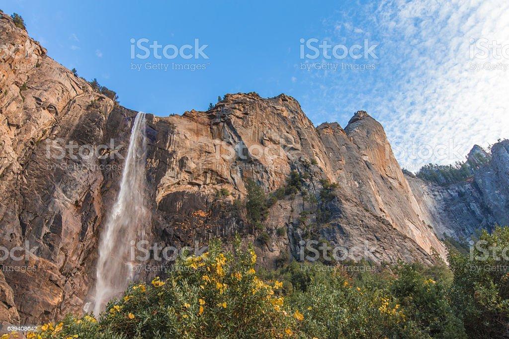 Bridalveil Fall in Yosemite California stock photo