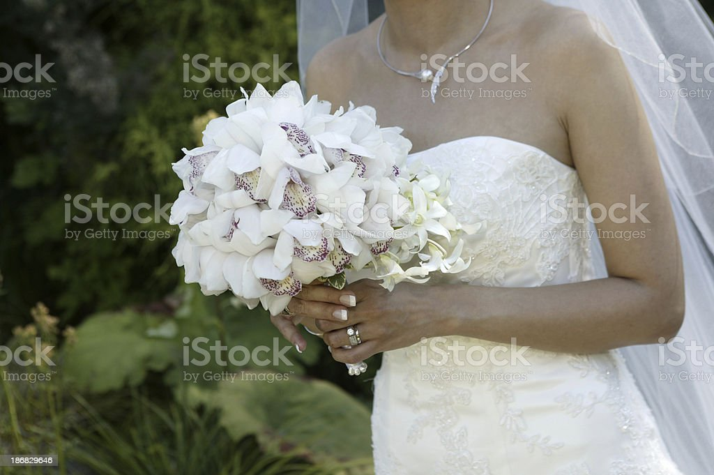 bride and bouquet 2 stock photo