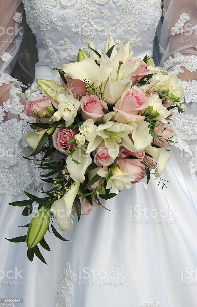 bride and bouquet royalty-free stock photo
