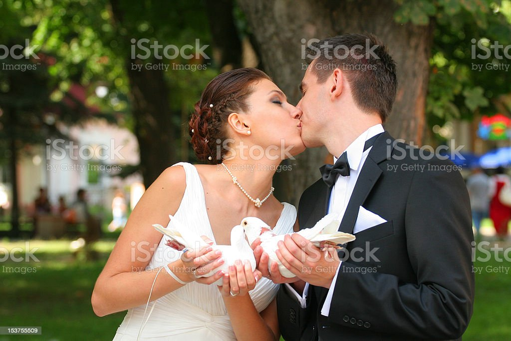 Bride and Bridegroom royalty-free stock photo