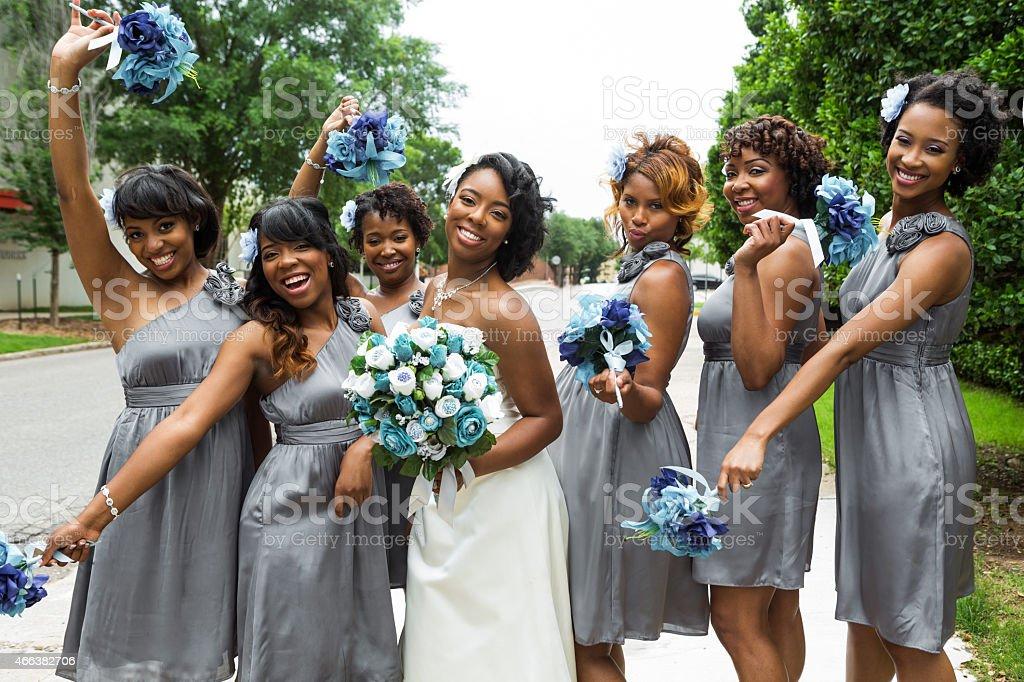 Bride and Bridesmaid stock photo