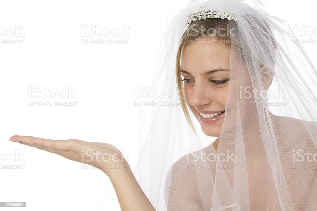 bride and copy space royalty-free stock photo