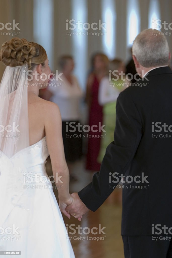 Bride and Father royalty-free stock photo