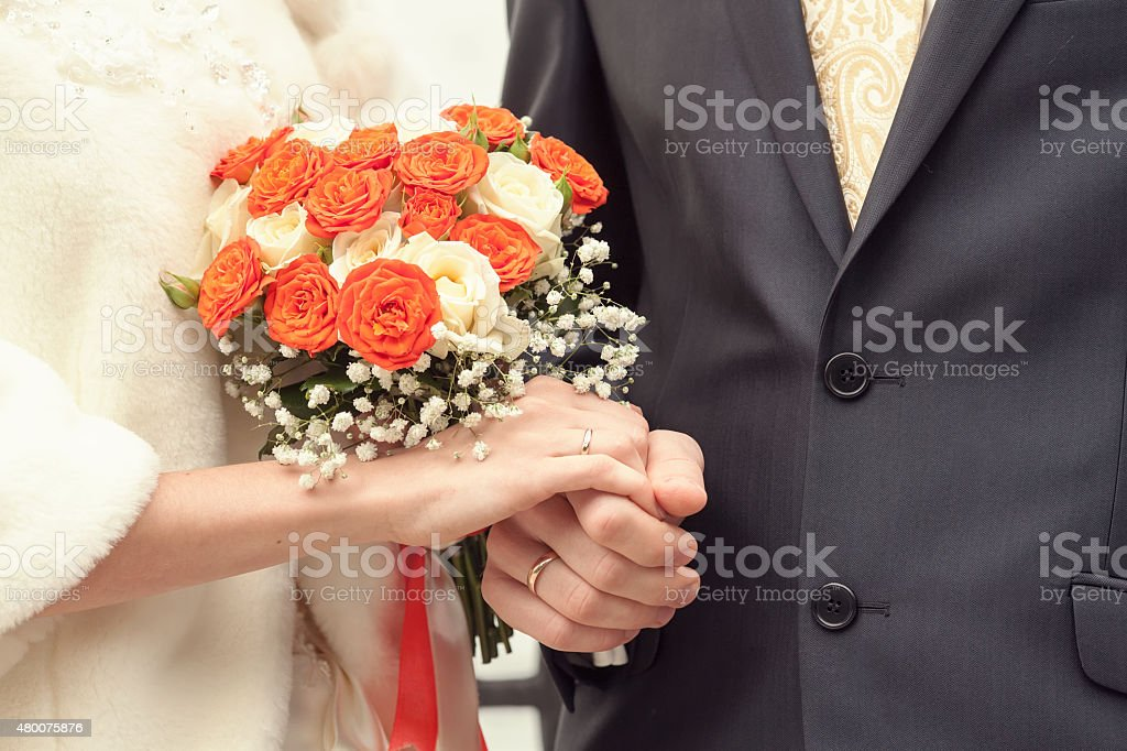 bride and groom at a registry office royalty-free stock photo