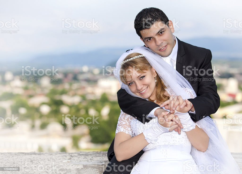 bride and groom at the wedding royalty-free stock photo